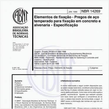 NBR14269 de 01/1999
