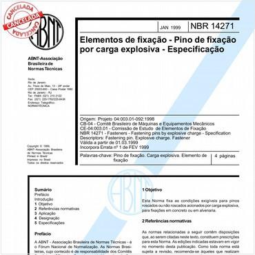 NBR14271 de 01/1999
