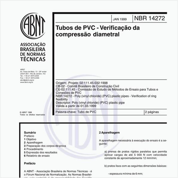 Tubos de PVC - Verificação da compressão diametral