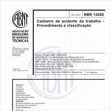 NBR14280 de 02/2001