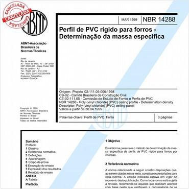 NBR14288 de 03/1999