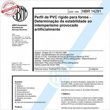 NBR14291 de 03/1999
