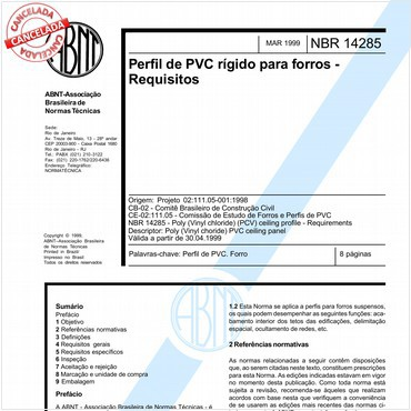 NBR14285 de 03/1999