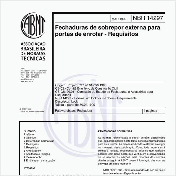 NBR14297 de 03/1999