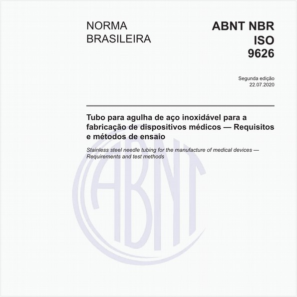 Tubo para agulha de aço inoxidável para a fabricação de dispositivos médicos — Requisitos e métodos de ensaio