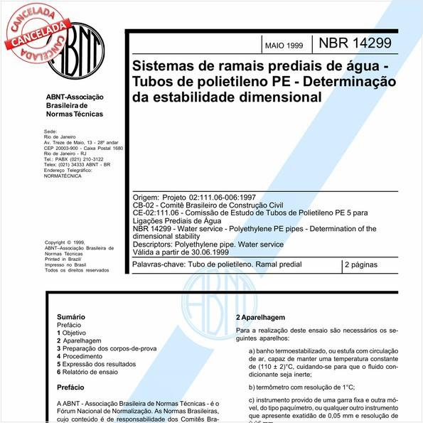 NBR14299 de 09/2016