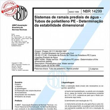 NBR14299 de 05/1999
