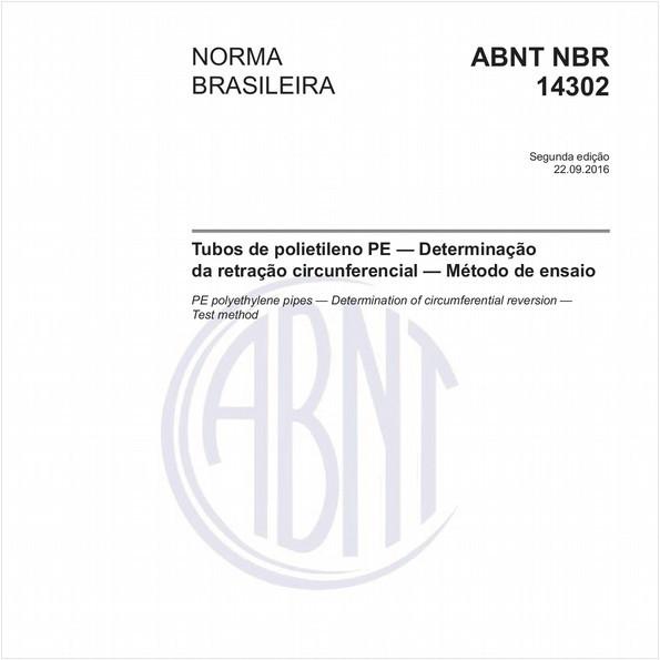 Tubos de polietileno PE — Determinação da retração circunferencial — Método de ensaio