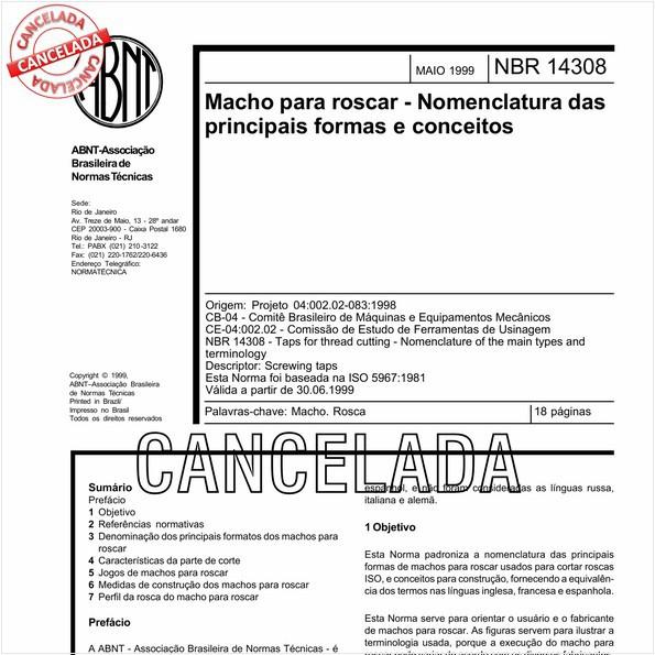 NBR14308 de 11/2010
