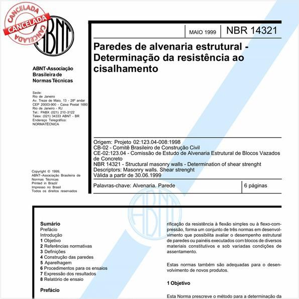 NBR14321 de 10/2016