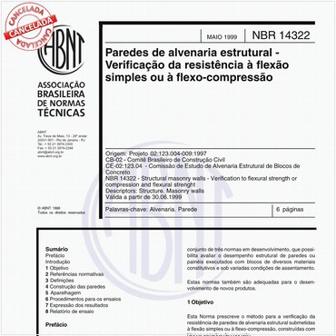 NBR14322 de 05/1999