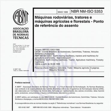 NBRNM-ISO5353 de 05/1999