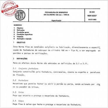 NBR8207 de 10/1983