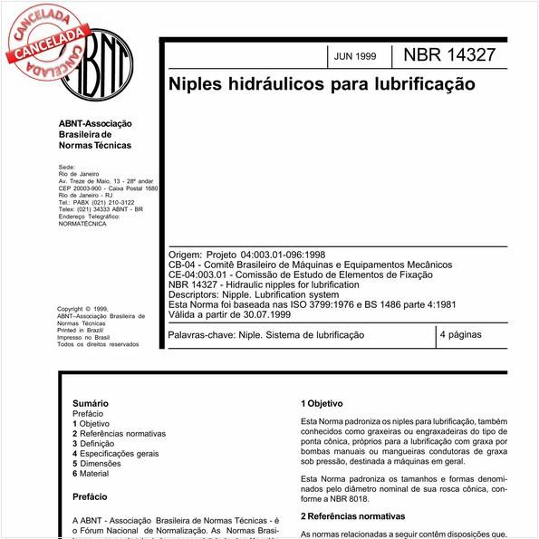 Niples hidráulicos para lubrificação