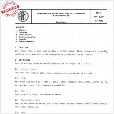 NBR8209 de 10/1983
