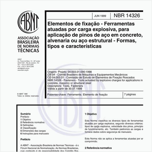 NBR14326 de 06/1999