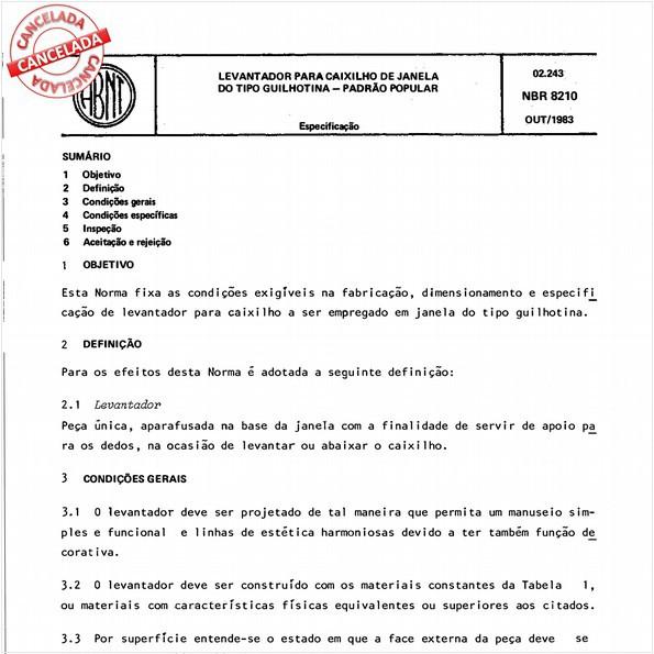 NBR8210 de 09/2012