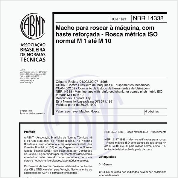 NBR14338 de 06/1999