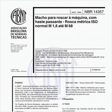 NBR14357 de 08/1999