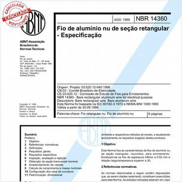 NBR14360 de 08/1999