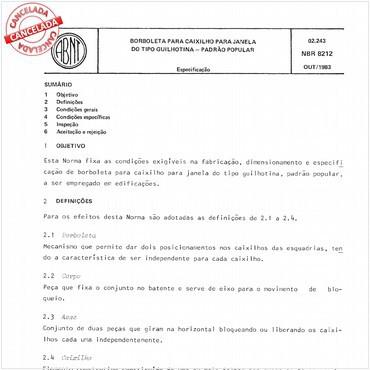 NBR8212 de 10/1983