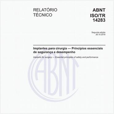 ABNT ISO/TR14283 de 10/2018