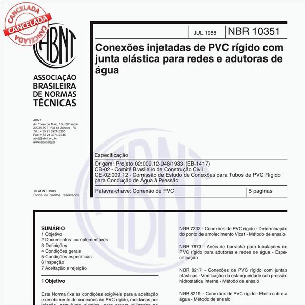 NBR10351 de 07/1988