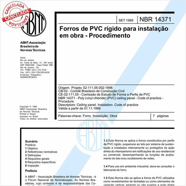NBR14371 de 04/2014