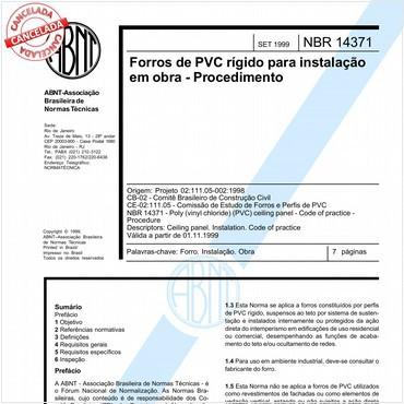 NBR14371 de 09/1999