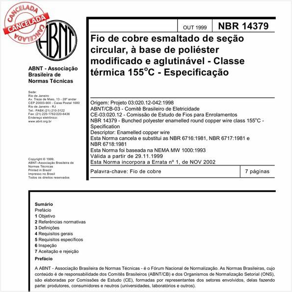 NBR14379 de 12/2015