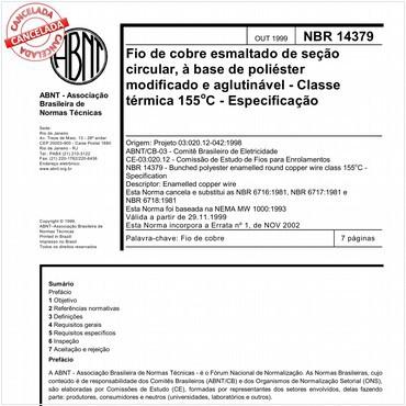 NBR14379 de 10/1999