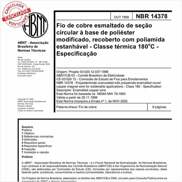 NBR14378 de 12/2015