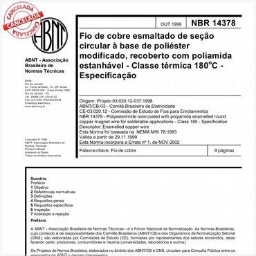 NBR14378 de 10/1999
