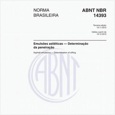 NBR14393 de 11/2012