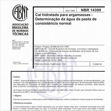 NBR14399 de 11/1999
