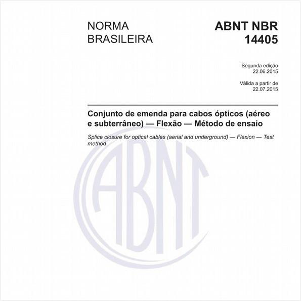 Conjunto de emenda para cabos ópticos (aéreo e subterrâneo) - Flexão - Método de ensaio