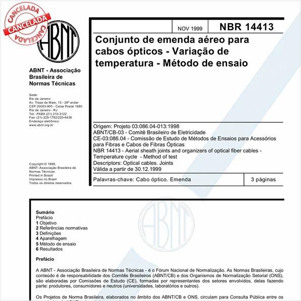 NBR14413 de 08/2016