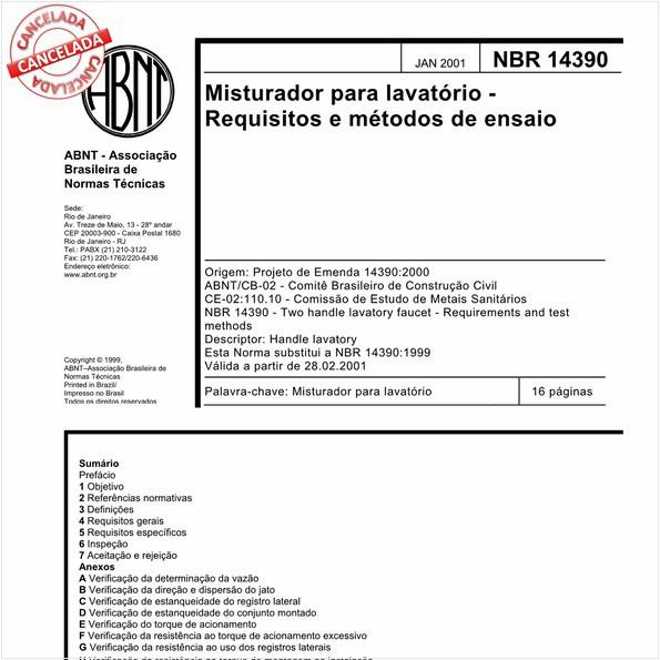 NBR14390 de 05/2019