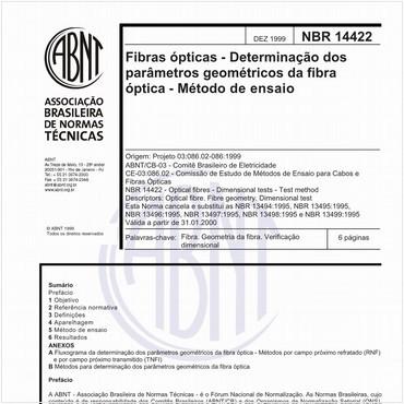 NBR14422 de 12/1999