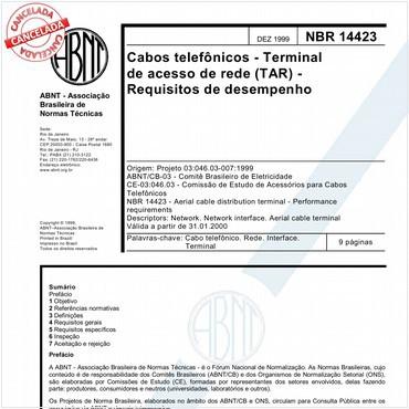 NBR14423 de 12/1999