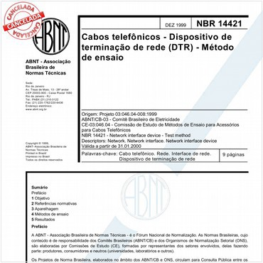 NBR14421 de 12/1999