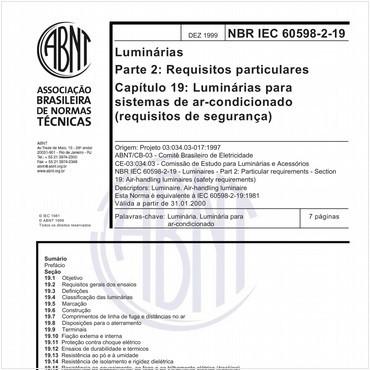 NBRIEC60598-2-19 de 12/1999