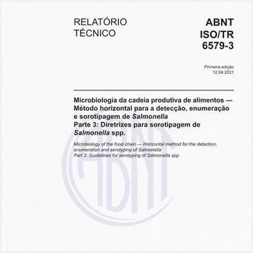 ABNT ISO/TR6579-3 de 04/2021