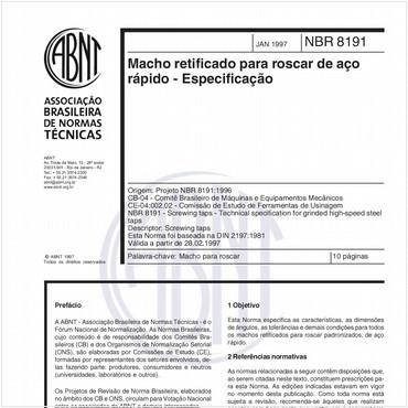 NBR8191 de 01/1997