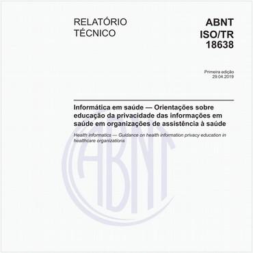 ABNT ISO/TR18638 de 04/2019