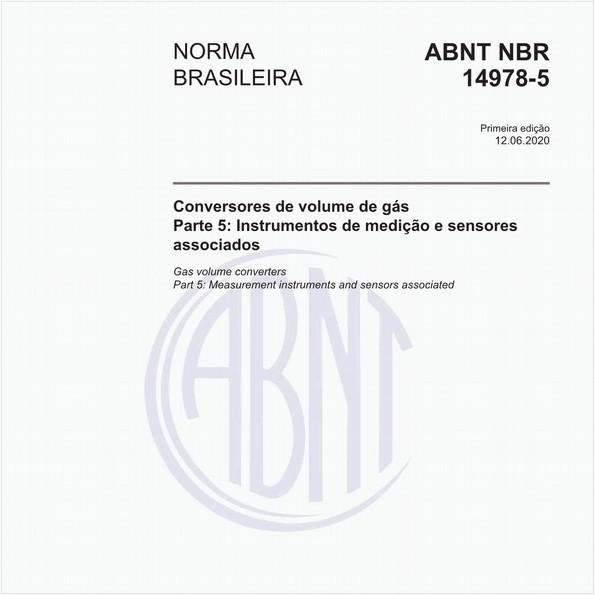 Conversores de volume de gás - Parte 5: Instrumentos de medição e sensores associados