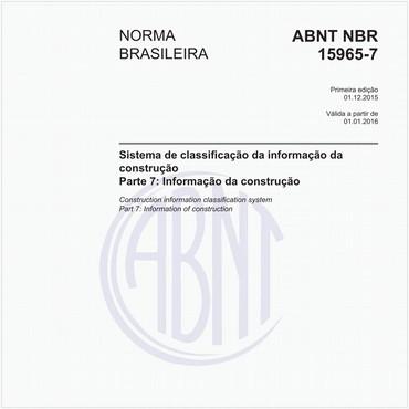NBR15965-7 de 12/2015