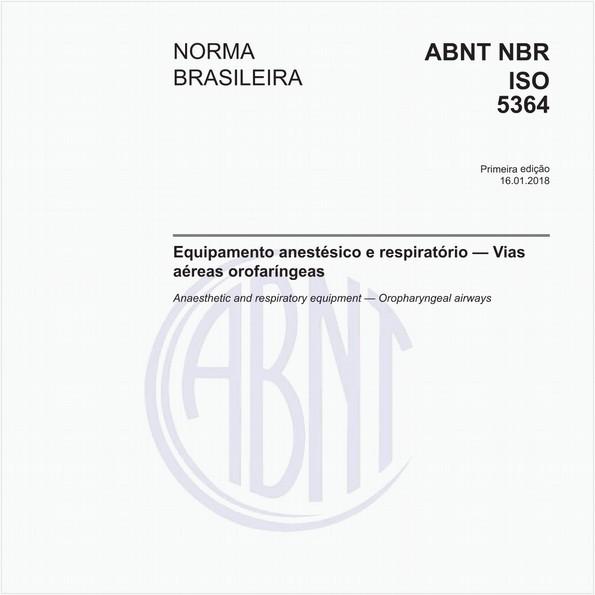 Equipamento anestésico e respiratório - Vias aéreas orofaríngeas