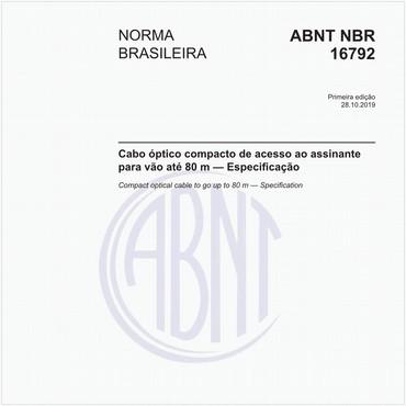NBR16792 de 10/2019