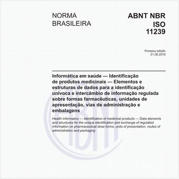 NBRISO11239 de 08/2019